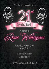 21st birthday invitation 21st birthday invitation silver ornate invite
