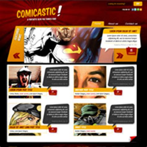 Create A Comic Book Themed Web Design Photoshop To Html Css Part 1 Comic Book Website Template