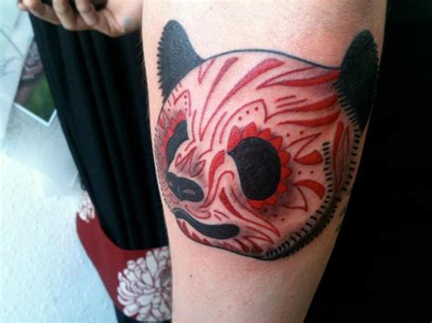 panda kopf tattoo arm fantasie panda tattoo von holy cow tattoos