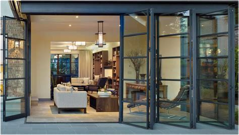Glass Bifold Exterior Doors For An Open An Airy Feel Folding Sliding Glass Doors Are A Must For A Home A Patio Should