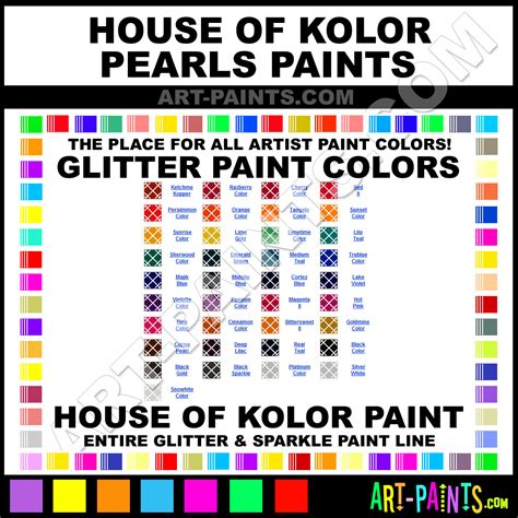 house of colour house of kolor pearls glitter paint colors house of kolor pearls paint colors