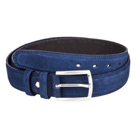 capo pelle mens leather belts navy suede dress belt