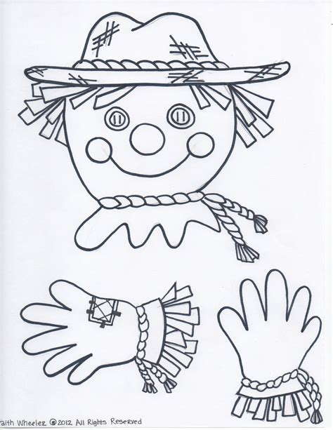 free printable scarecrow template 1st grade fantabulous october 2012