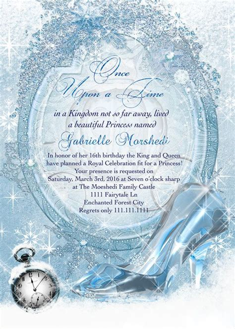 cinderella themed quinceanera invitations best 25 cinderella invitations ideas on pinterest