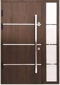 Contemporary Front Door Hardware Quot Sofia Quot Stainless Steel Modern Entry Door In Walnut Finish House Stainless