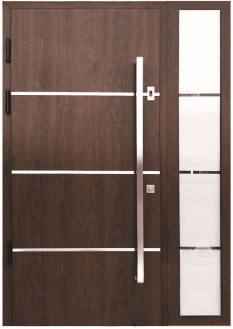 Contemporary Exterior Door Handles Quot Sofia Quot Stainless Steel Modern Entry Door In Walnut Finish House Pinterest Stainless