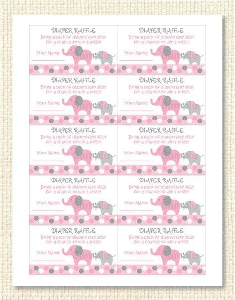 free printable halloween raffle tickets mod pink elephant printable diaper raffle by
