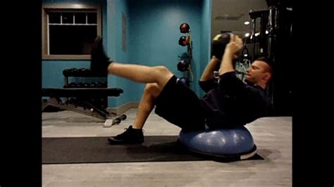 killer ab workout  men  women bosu medicine ball