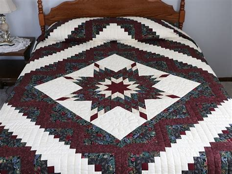 Lone Log Cabin Quilt Pattern by Lone Log Cabin Quilt Gorgeous Skillfully Made