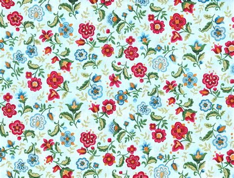 floral prints vibrant blue multi large and small floral print by