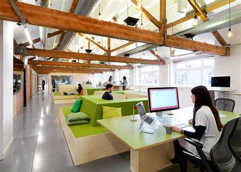 airbnb s london office is based in a converted warehouse village greens to reading nooks airbnb have new offices