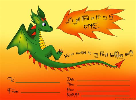 printable birthday invitations dragons first birthday party invitations free and ready to print