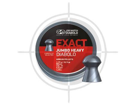 Jsb Exact Jumbo Heavy 22 jsb exact diabolo jumbo heavy cal 22 18 13 grains pellets