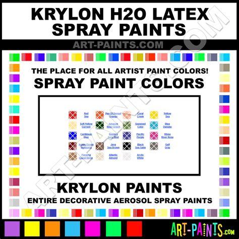 krylon h2o spray paint aerosol colors krylon h2o