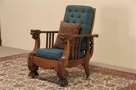 morris reclining chair antique sold morris reclining chair 1900 antique carved oak