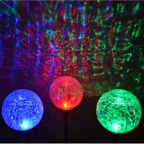 and green solar lights green blue led 3 5 quot dia crackle glass