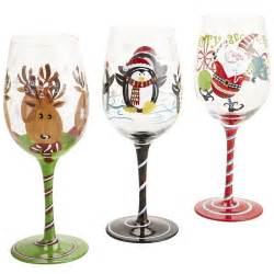 christmas wine glasses hand painted wine glasses pinterest