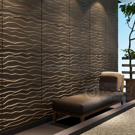 English Country Home Decor mdf 3d wave panel wall decor beach china manufacturer