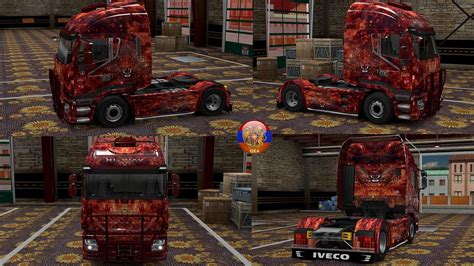 skin pack new year 2017 for iveco hiway and volvo 2012 iveco hiway furry tiger combo skin packs 1 27 2 4s ets2