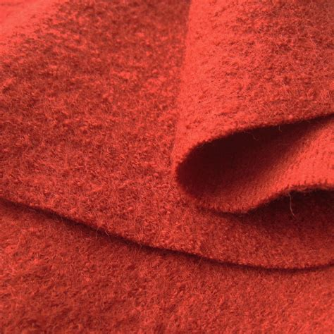 wool fabric organic boiled wool fabric red siebenblau shop for