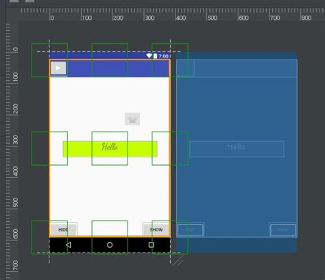 android studio layout drag and drop how to fix the restricted drag and drop in design tab in