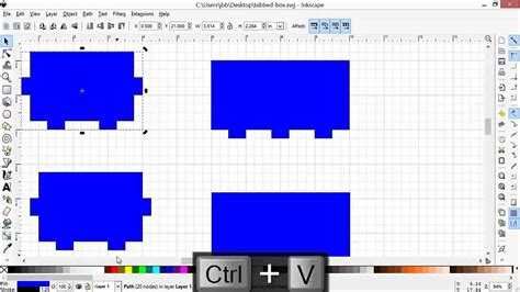 inkscape tutorial laser cutting designing a laser cut tabbed box using inkscape youtube