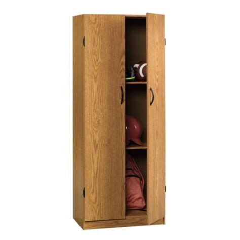 freestanding storage cabinet pantry oak finish