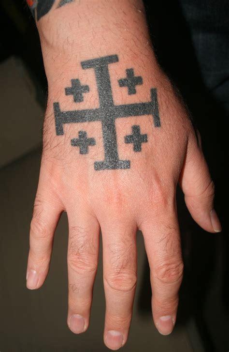 crusaders cross tattoo jerusalem crusader cross the prince of wales was