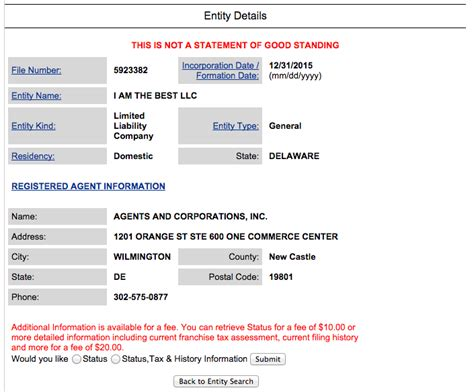 Find By Name And State Delaware State Business Name Search