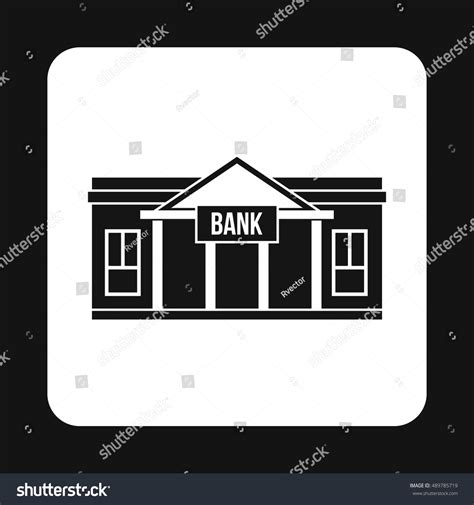 simple bank bank icon simple style isolated on stock illustration