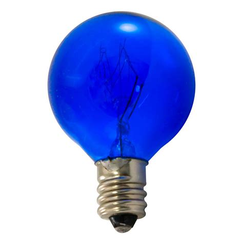 blue 10 watt candelabra light bulb pack