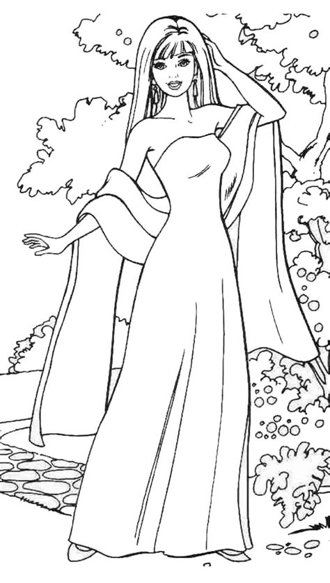 coloring pages of barbie barbie girl coloring pages