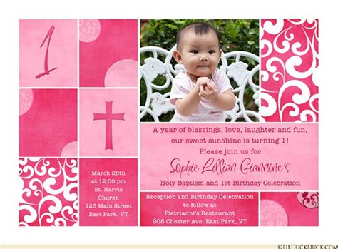 Combined Wedding And Christening Invitations combined birthday and baptism invitations