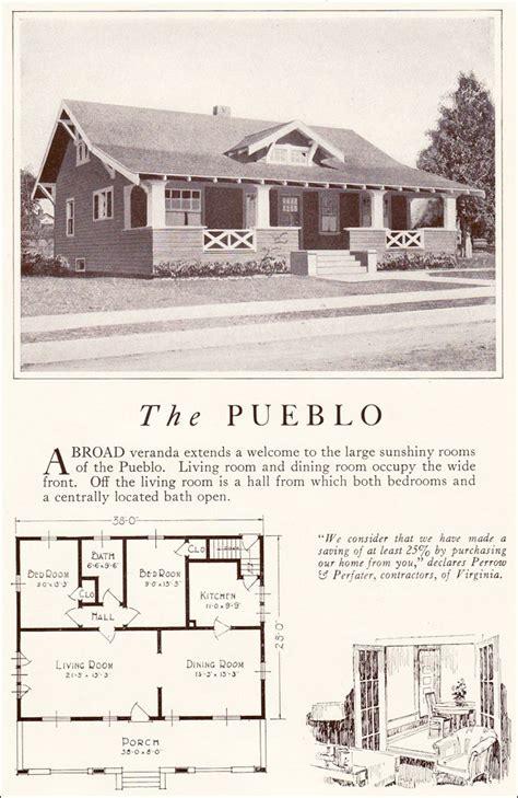 pueblo house plans pueblo 1922 lewis manufacturing bay city side gabled