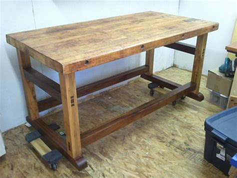 work bench base hand crafted black walnut and spalted maple workbench base