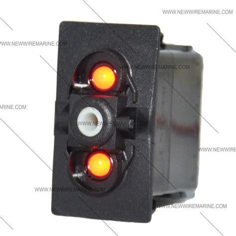 on on backlit rocker switch led new wire marine