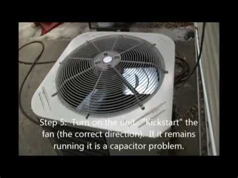 air conditioner fan not spinning how to fix your ac outdoor fan not running asurekazani