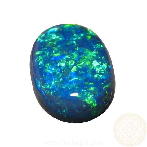 Blue Opal 01 oval black opal 2 73 carat australian black opal