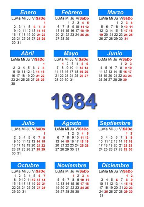 fechas para devolucion de percepciones calendario 1984 para imprimir y descargar pdf abc