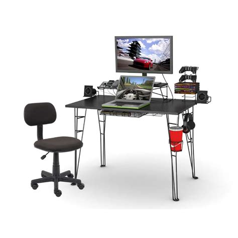 Black Gaming Desk by Atlantic Gaming Desk And Task Chair Combo Black 33935797
