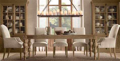 Beautiful Modern French Dining Room Design With Restoration Hardware Dining Room Tables