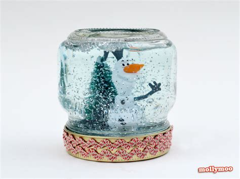 crafts snow globes mollymoocrafts crafts how to make a snow globe