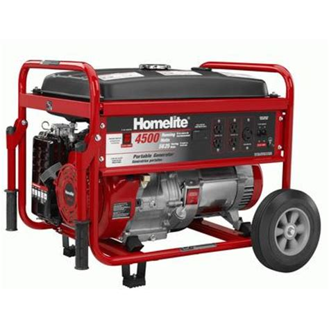 homelite homelite 4500 watt portable generator home