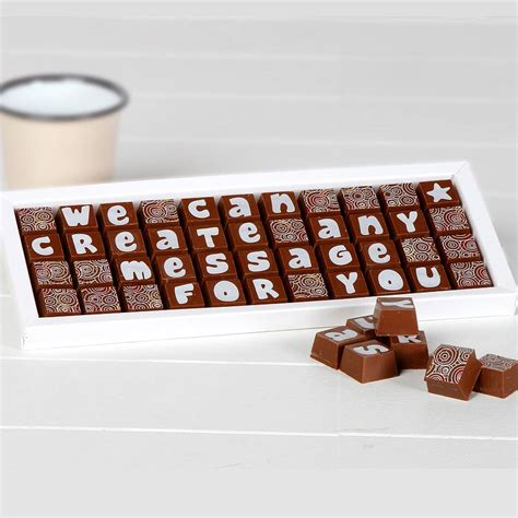 personalised chocolates in a large box by chocolate by cocoapod chocolate notonthehighstreet com