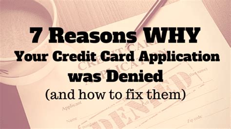 7 Reasons To Try A Bad Credit Repair Company by 7 Reasons Why Your Credit Card Application Was Denied And