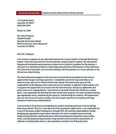 exle cover letter for teaching create a cover letter