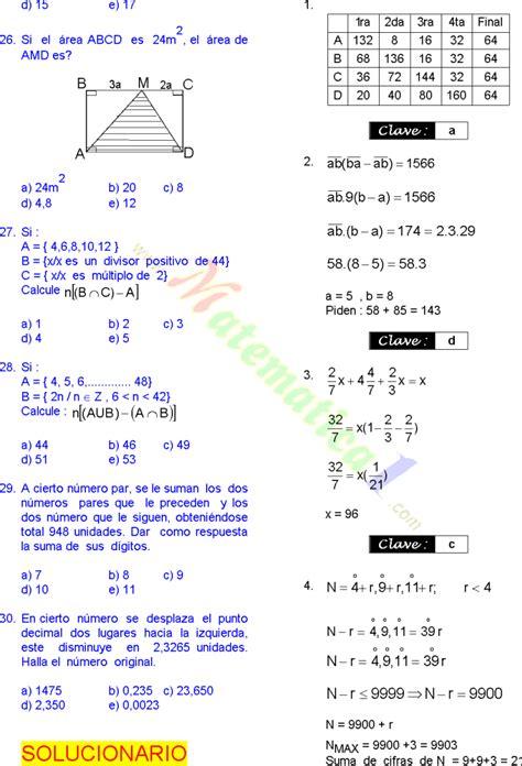 preguntas de matematicas para quinto grado matem 193 ticas 30 problemas resueltos de sexto grado de