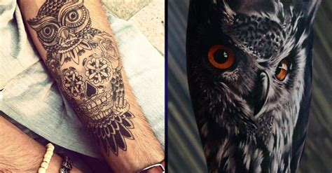 owl tattoos for men owl arm www imgarcade image arcade