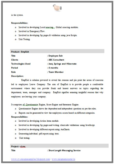 3 Page Resume Format by 10000 Cv And Resume Sles With Free Best