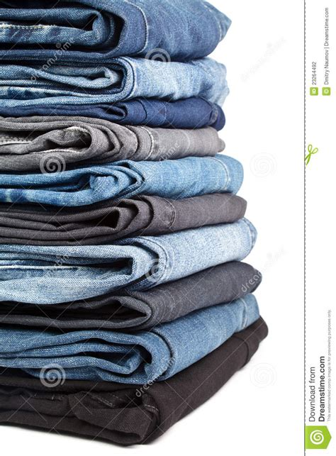 jeans pile stock photography image